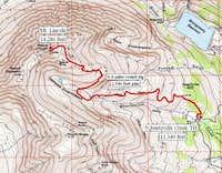 Quartzville Creek TH route....