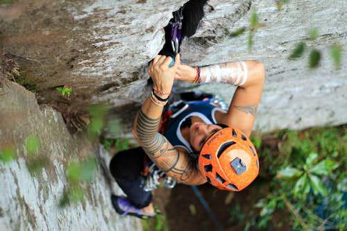 CLimbing in Yeye Mount