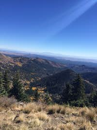 A view to the east from the summit of Mt. Taylor, NM