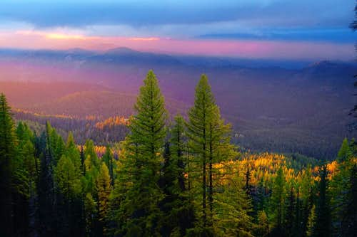 Fall Colors with Sunset Rays