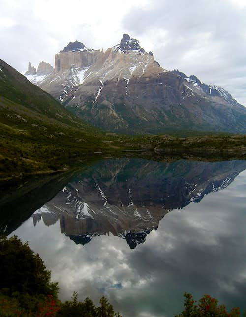 Cuernos Reflected in Lago Scottsberg