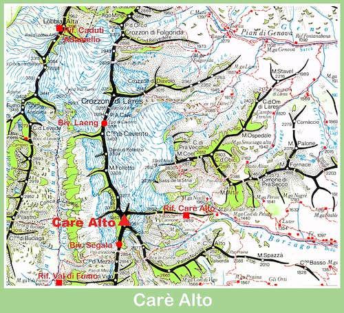 Carè Alto map