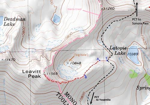 Use trail to Leavitt Peak