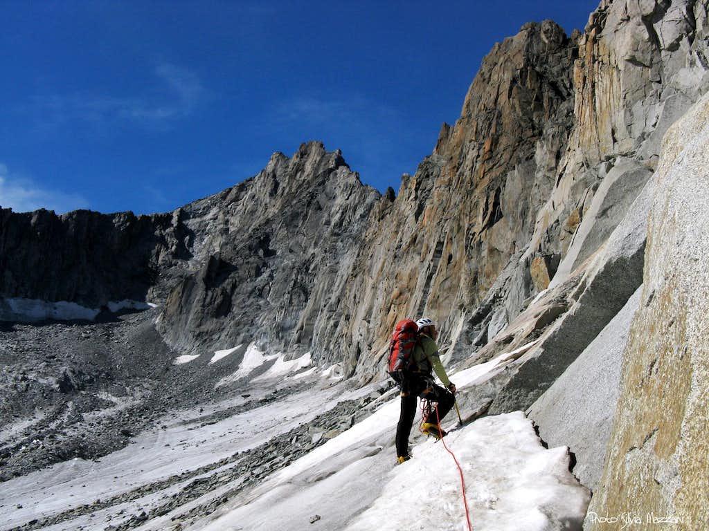 Gletschhorn Spur. head of Tiefengletscher