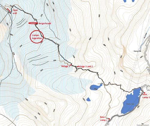Annotated topo map