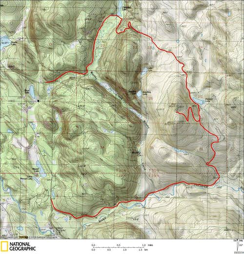 Updated route map for Littler Pilchuck (Worthy Hill)