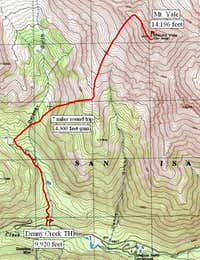 Denny Creek TH route. A real...