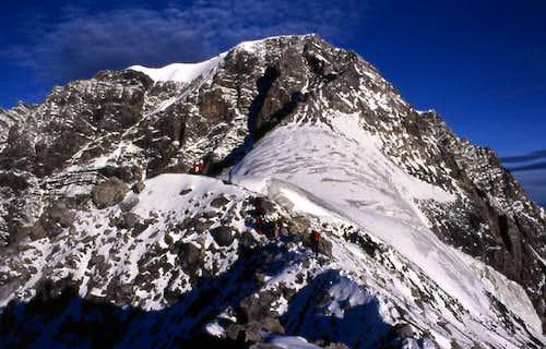 Climbing the Hintergrat,...