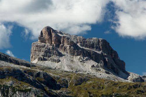 Averau seen from Lastroni di Formin