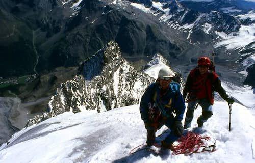 Climbing the Hintergrat....