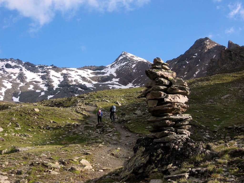 The trail along Val Madriccio