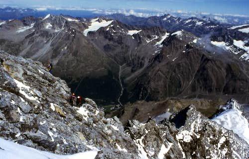 Near the top. Rock ridge. 2004
