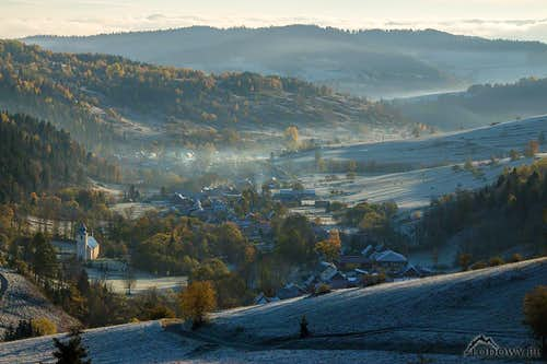 Frosty morning in Spis highlands