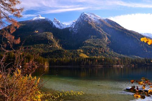Hintersee lake and Hochkalter group