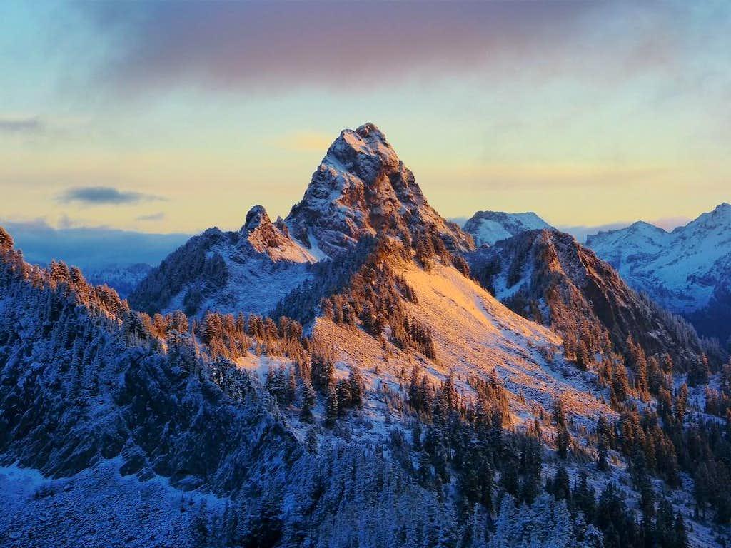 Mount Thomson Alpenglow