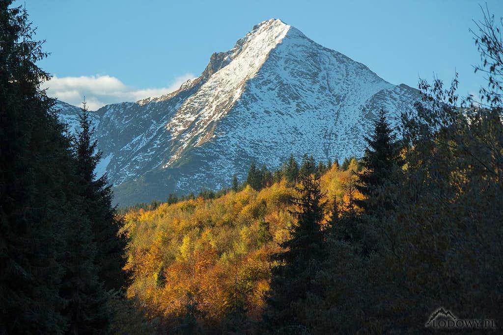Mount Havran in fall scenery