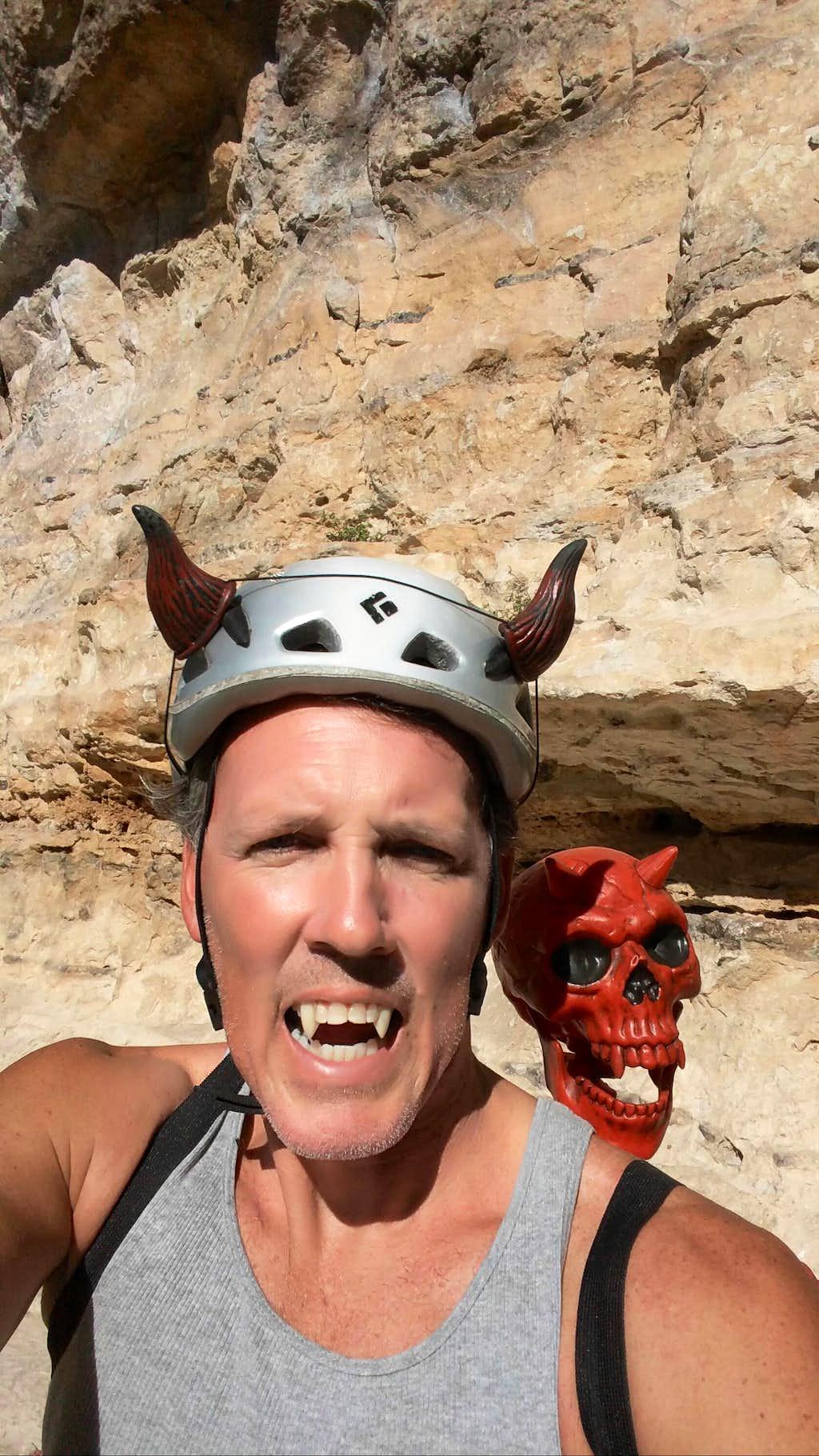 Climbing on Halloween