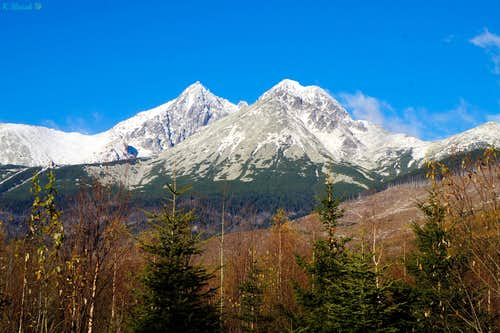 Fall absorbs the sun. Tatras of late October