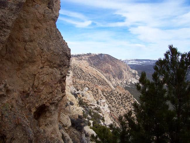 View of traverse to crux...