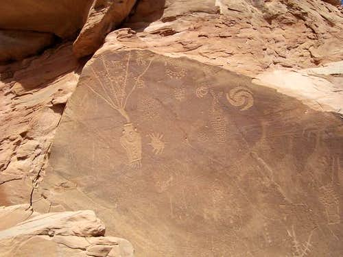 These petroglyphs are located...