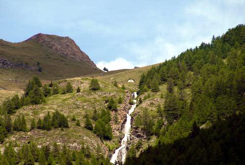 Waterfalls on Arpisson Torrent from Arpisson Alp 2016