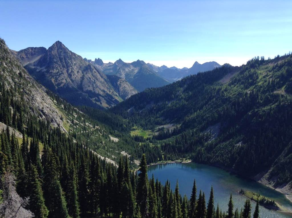Cutthroat Peak and Lake Ann
