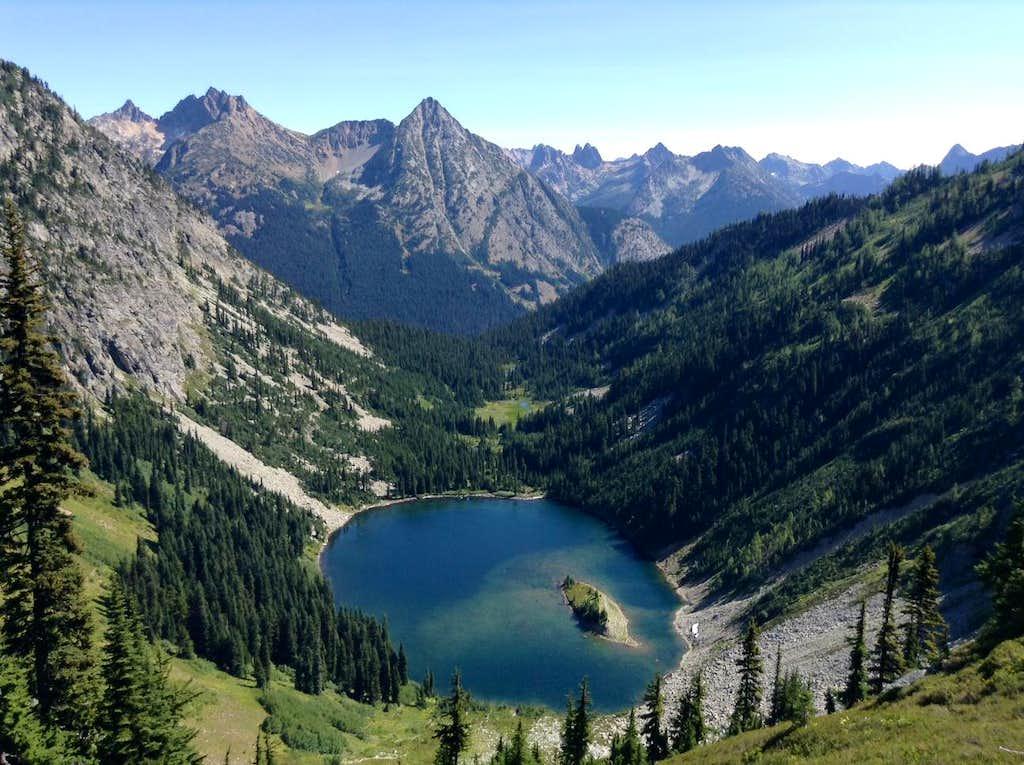 Cutthroat Peak and Lake Ann