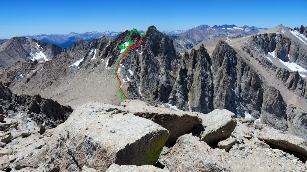 Route on Mt McAdie