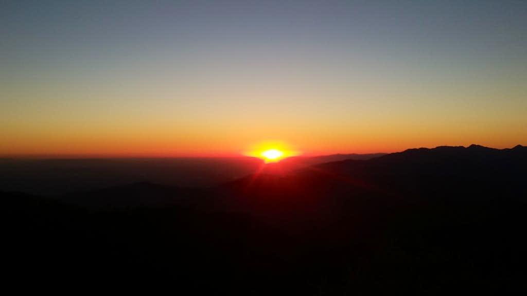Sunset from Sunset Peak