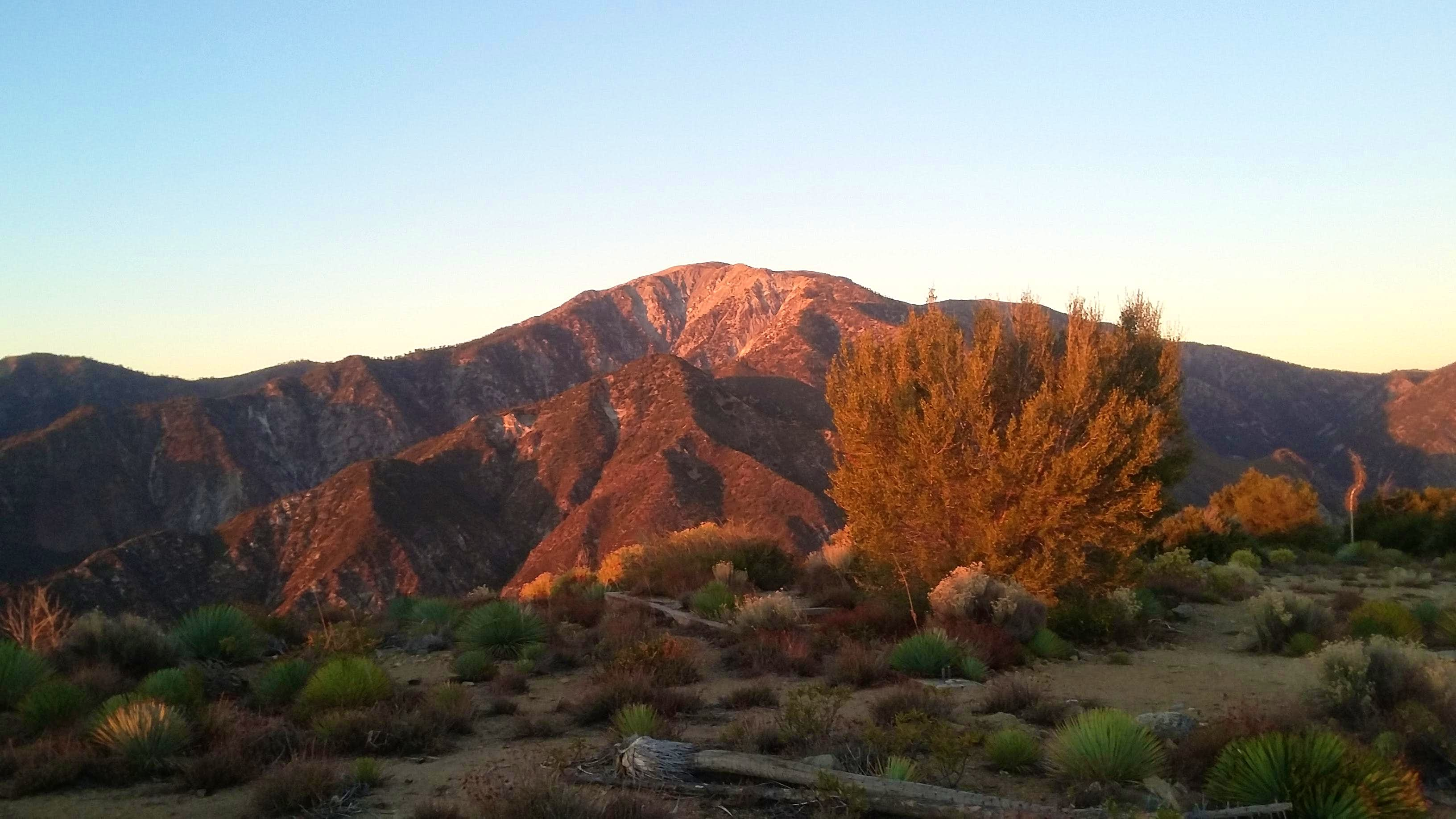 November Trip Over the San Gabriels