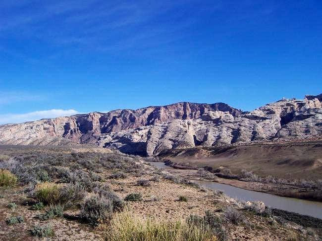 Split Mountain (left), South...