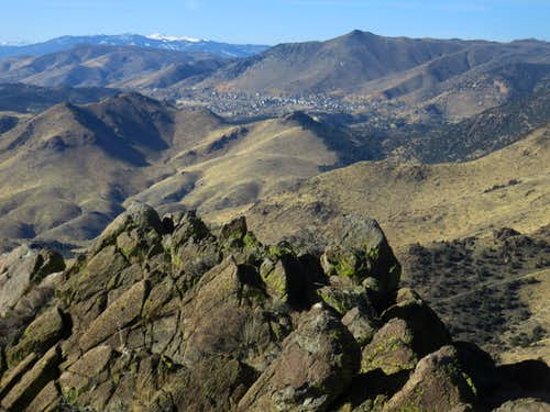 View to Virginia City from the summit of Rocky Peak