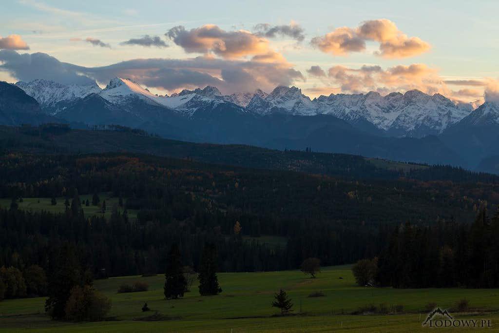 October evening over Tatras