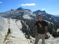 Myself enjoying the view of the Sierra Nevada in Tuolumne Meadows, above Yosemite Valley