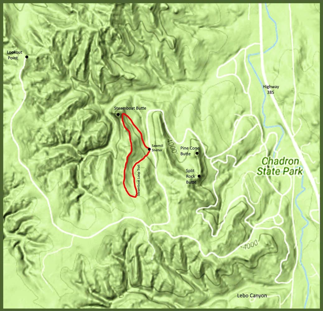 Steamboat Loop Trail Map : Photos, Diagrams & Topos : SummitPost