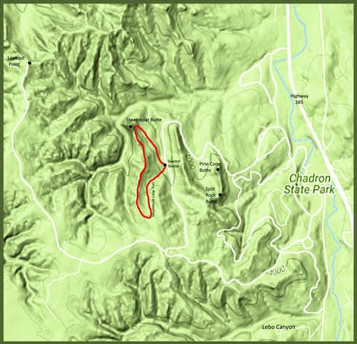 Steamboat Loop Trail Map