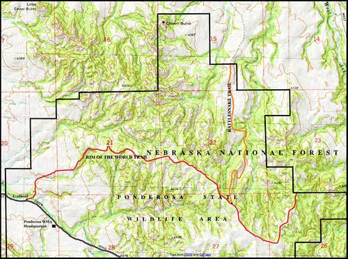 Ponderosa Wildlife Area Map