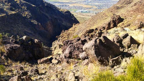 View down Eagle Canyon in Damonte Ranch