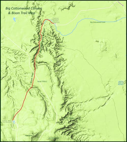 Big Cottonwood Canyon Map