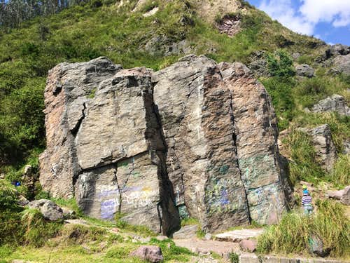 Largest of the rocks, roadside.