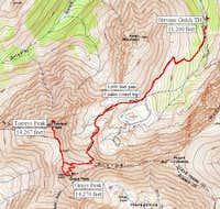 Stevens Gulch TH route.
