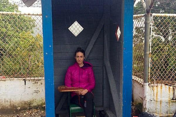 Guard hut at trail head