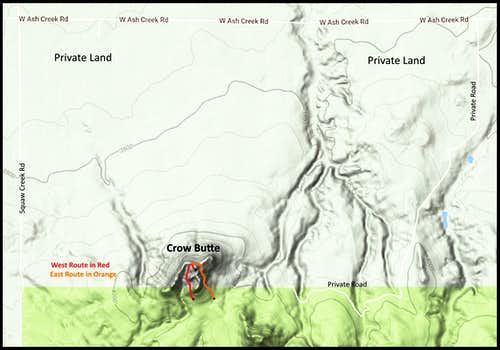 Crow Butte Routes Map
