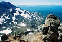Summiters descending the...