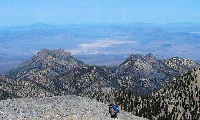 Macks Peak (left) and The...
