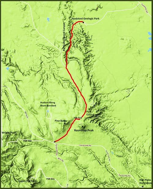 Roundtop Peak Hiking Routes