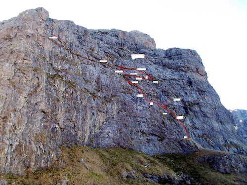 Monks Cowl Standard Route
