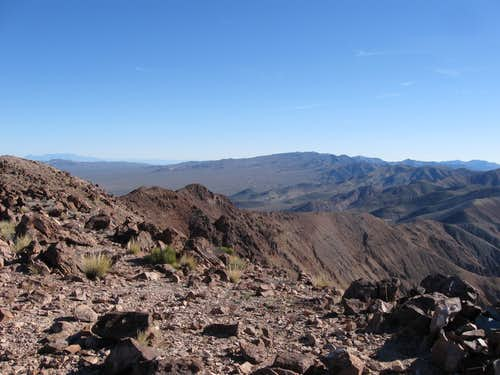 Looking South Towards Funeral Peak