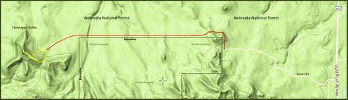 Flannigan Butte Route Map