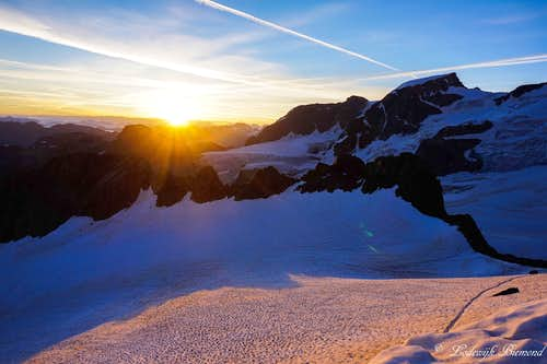 Piz Cambrena at Sunrise